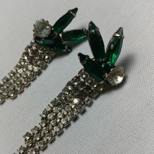Jewelry - 2/$35 Silver and green earrings NWOT
